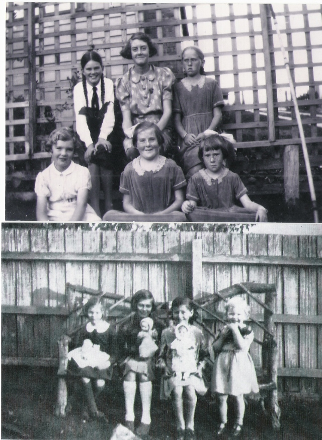 1930s joan and mary rollason, early photos with relatives