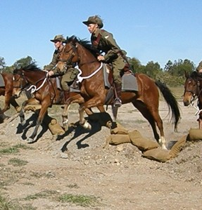 reenactment of charge of beersheba