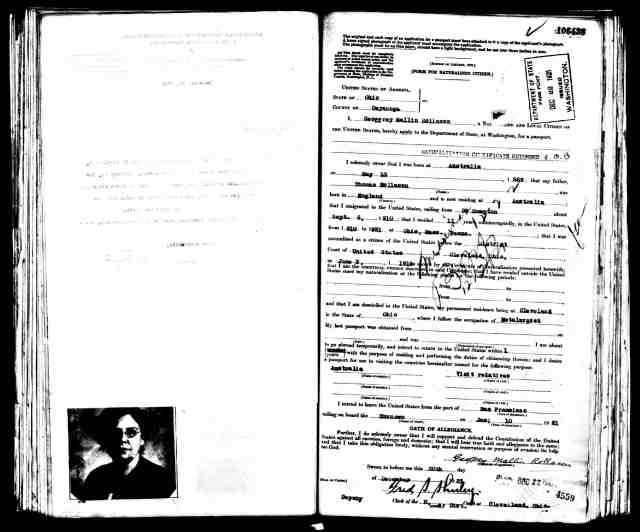 geoff rollason passport application 1921