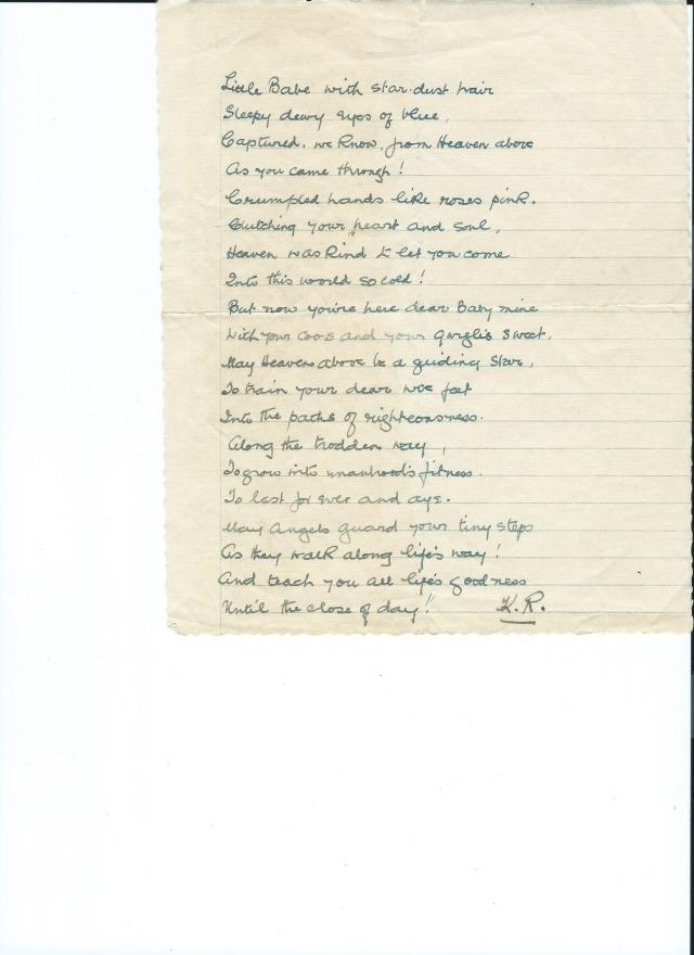 Kath Rollason's poem
