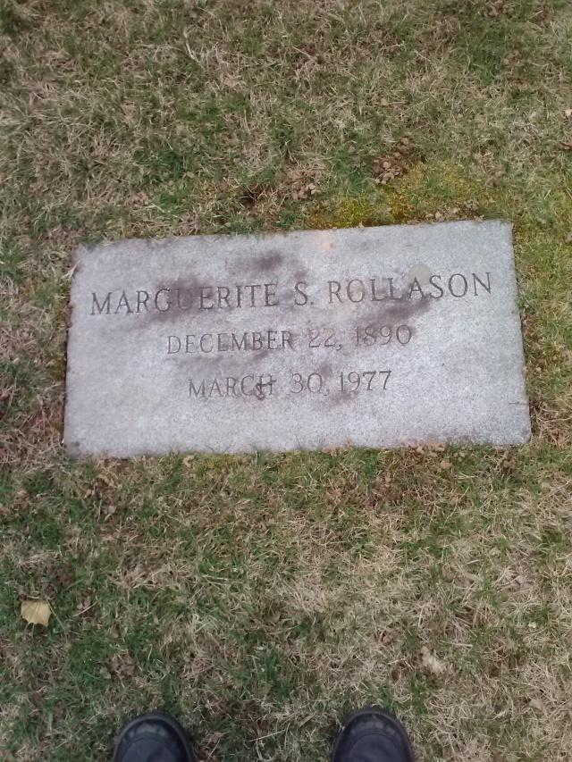 Marguerite Rollason grave