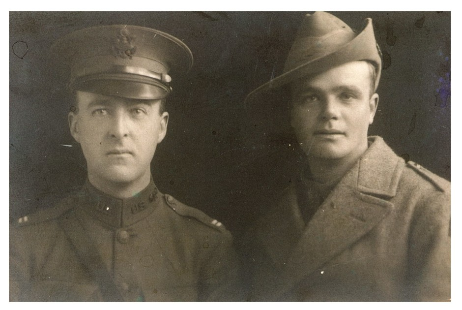 Geoff Rollason left and Tim Rollason right c. 1918