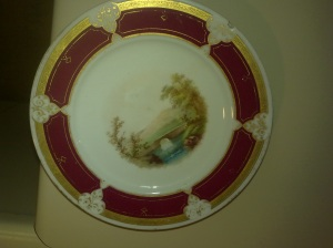limoge plate most likely owned by Reigen Jane