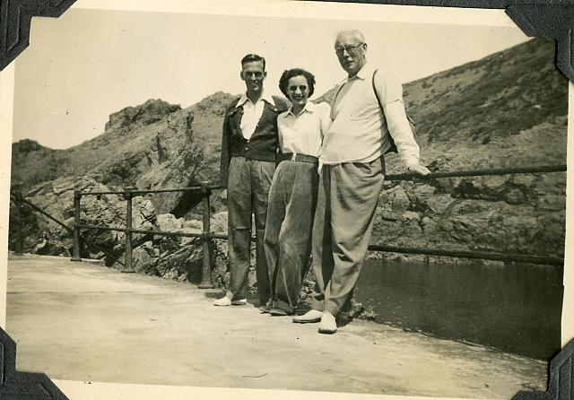europe1952 john, peggy sharples and harold