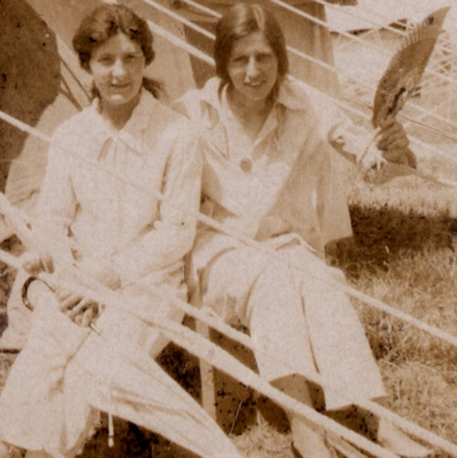 Phyllis in Salonika( right ) , 1915 - 1918 as a nurse in WW1