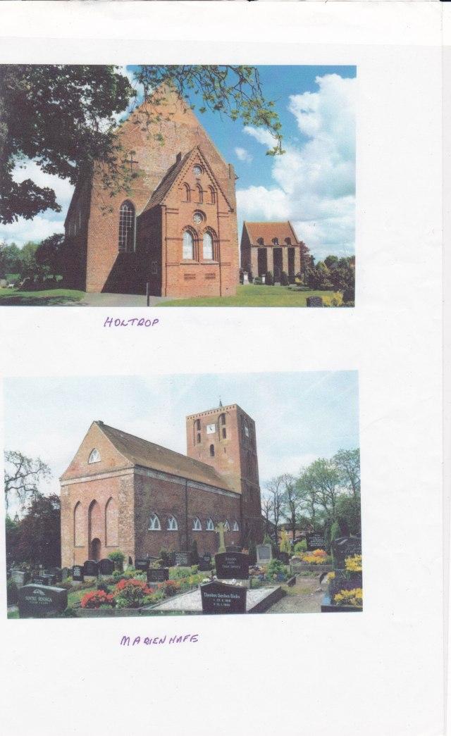 german churches  Norden and Westerholt