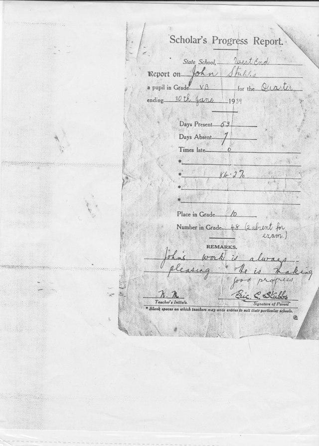 1939 school report