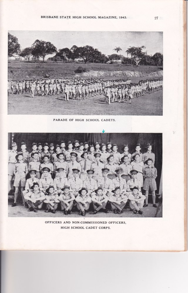 1943 cadets dad indicated w arrow