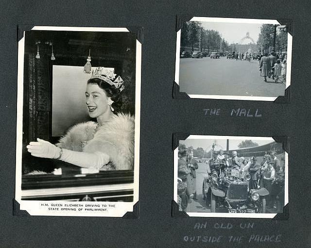 coronation 1953 w pic of queen in carriage