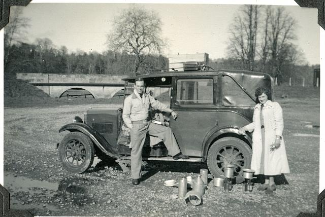 europe1952 dad with dorothy and the bomb