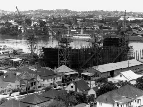 Evans Deakin Shipyards at Kangaroo Point Brisbane 1963