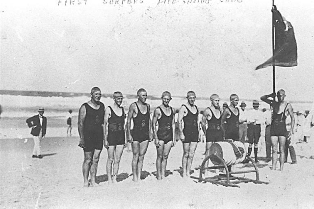 first surfers life saving team 1930s