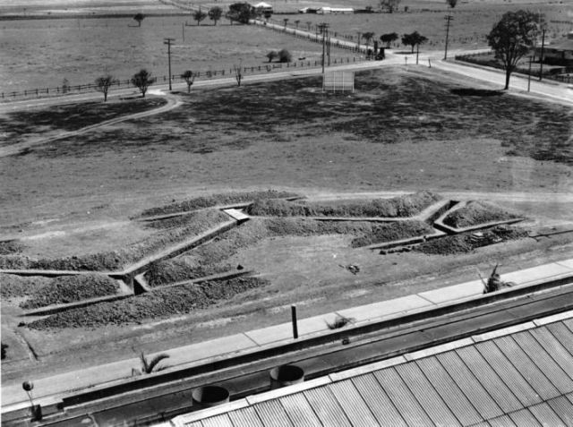 fordmotoreaglefarm air raid shelters