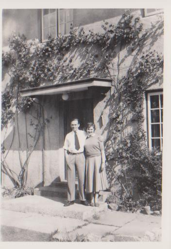 joan and john 1954 or 55 at 2 newmarket road , norwich
