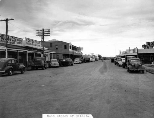 Kariboe Street in Biloela 1950 Main Street