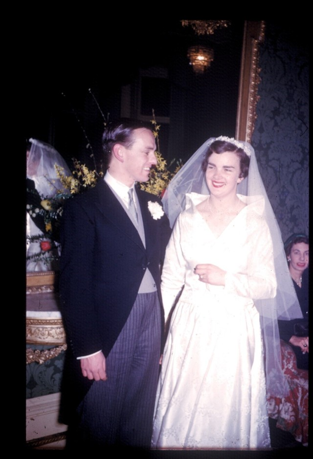 1956 wedding at St. Mary the Boltons , London