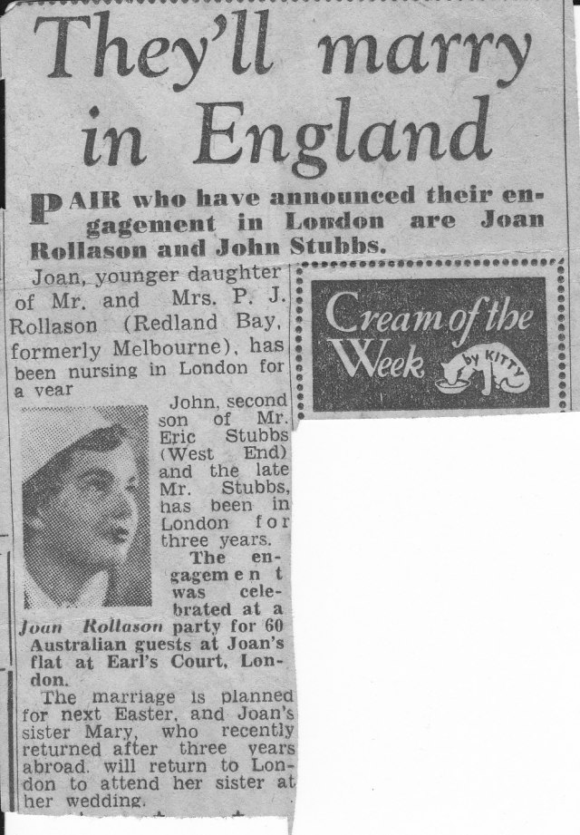 1955 engagement notice