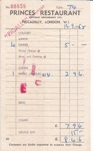 1955 restaurant bill