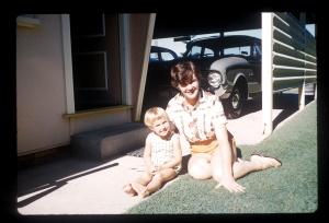 1963 joan with jen at mt gravatt
