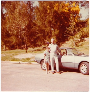 Dad w matt , Marston Ave and the Lancia , 1970s