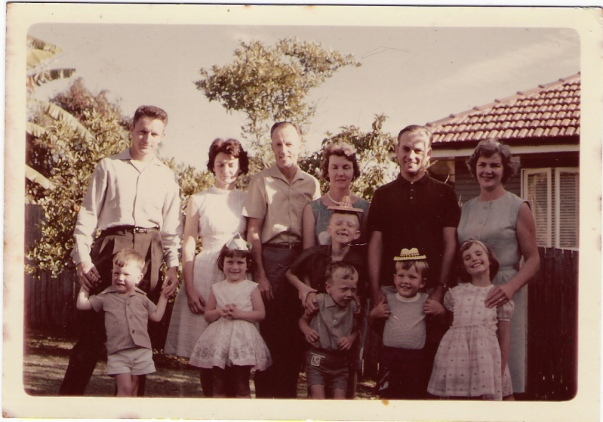 stubbs family: George, Joan and Family, Charlie and Bettie and family, John and Joan and family